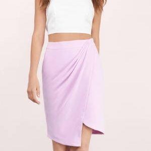 Tobi Bright Lights Lavendee Draped Skirt sz S